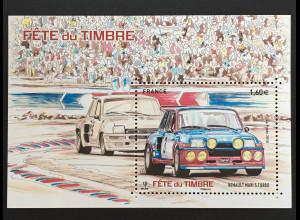 Frankreich France 2018 Block 389 Fest der Briefmarke Historische Automobile