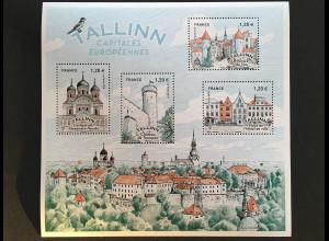 Frankreich France 2018 Block 390 Hauptstädte Europas - Tallinn