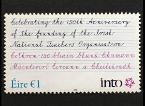 Irland 2018 Michel Nr. 2257 150 Jahre irischer Lehrerverband (INTO)
