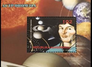 MakedonienMacedonia 2018 Block 34 Nikolaus Kopernikus Astronom Wissenschaft