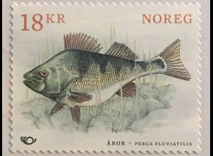 Norwegen 2018 Michel Nr. 1967 NORDEN Fische Flussbarsch Perca fluviatilis