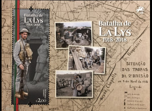 Portugal 2018 Block 427 Schlacht von Lys r Battle of the Lys Flandernschlacht