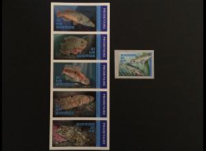 Schweden Sverige 2018 Michel Nr. 3224-29 NORDEN Fische Meeresbewohner Fauna Tier