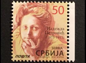 Serbien Serbia 2018 Nr. 779 Neudruck Freimarke Nadezda Petrovic