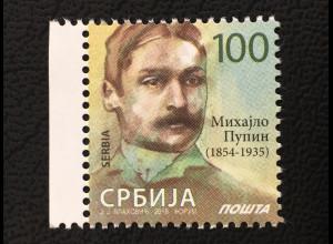 Serbien Serbia 2018 Nr. 780 Neudruck Freimarke Mihaijo Pupin