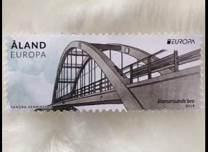 Aland 2018 Nr. 454 Europa Brücken Europacept Bormarsund Brücke Prästo