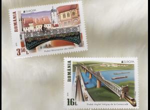 Rumänien 2018 Nr. 7362-63 Europaausgabe Brücken Donaubrücke Lügenbrücke
