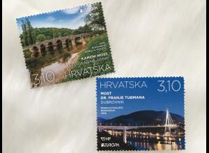 Kroatien Croatia 2018 Nr. 1318-19 Europa Brücken Europacept Steinerne Brücke