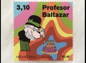 Kroatien Croatia 2018 Nr. 1320 Professor Balthazar Zeichentrickserie Film TV