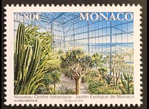 Monako Monaco 2018 Michel Nr 3395 Eröffnung Treibhausanlage Exotischen Garten