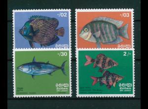 Sri Lanka 1972, Michel Nr. 428-31 **, Freimarkenserie: Fische