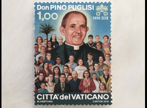 Vatikan Cittá del Vaticano 2018 Nr. 1925 25. Todestag von Giuseppe Puglisi Pino