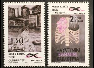Zypern türkisch Cyprus Turkish 2018 Nr. 848-49 Zwangszuschlagsmarken Gesundheit