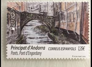 Andorra spanisch 2018 Nr. 465 Europaausgabe Brücken Brückenmotiv Europacept