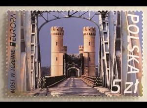 Polen Polska 2018 Michel Nr. 4987 Europaausgabe Brücken Weichselbrücke Dirschau