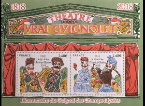 "Frankreich France 2018 Block 391 200 Jahre Puppentheater ""Vrai Guignolet"""
