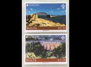 Malta 2018 Michel Nr. 2006-07 Europaausgabe Brückenmotive Europacept