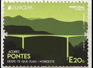 Azoren Acores 2018 Nr. 630 Europaausgabe Brückenmotiv Europacept