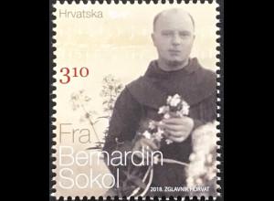 Kroatien Croatia 2018 Nr. 1321 130. Geburtstag von Pater Bernardin Soko