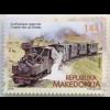 MakedonienMacedonia 2018 Neuheit Eisenbahnen Lokomotive Transport Verkehrswesen