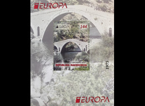 MakedonienMacedonia 2018 Block 35 Europaausgabe Brückenmotiv Europacept
