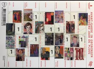 Niederlande 2018 Nr. 3713-22 100 Jahre De Ploeg Künstlervereinigung Gemälde