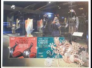 Portugal 2018 Block 429 Orient Museum Kunst Handwerk Ausstellung Samurai Drache