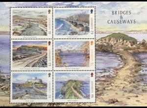 Guernsey 2018 Block 89 Europaausgabe Brücken und Dammwege Bridges