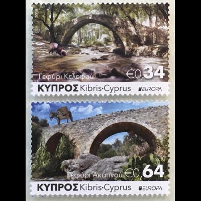 Zypern griechisch Cyprus 2018 Neuheit Europa Brückenmotive Europacept Bridges