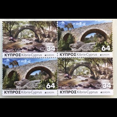 Zypern griechisch Cyprus 2018 Neuheit Europa Brückenmotive Europacept aus MH