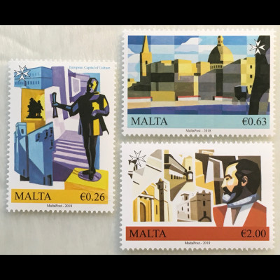 Malta 2018 Nr. 2008-10 Valletta Europäische Kulturhauptstadt Museen Paläste