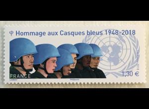 Frankreich France 2018 Nr 7017 70 Jahre Friedenstruppen der Vereinten Nationen