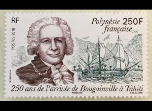 Polynesien französisch 2018 Nr. 1376 Ankunft von Louis Antoine de Bougainville