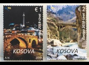 Kosovo 2018 Nr. 420-21 Europaausgabe Brückenmotive Bridge Ponte Europacept