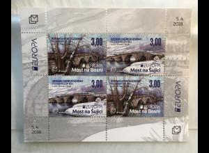 Bosnien Herzegowina Kroatische Post Mostar 2018 Block 40 Europaausgabe Brücken