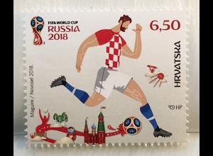 Kroatien Croatia 2018 Nr. 1324 FIFA World Cup Russland Fußball Weltmeisterschaft