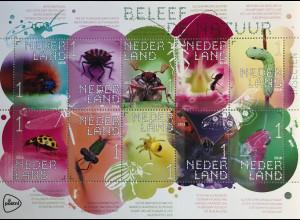 Niederlande 2018 Nr. 3725-34 Insekten Schmetterlinge Raupen Käfer Spinnen Ameise