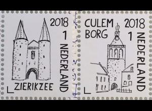 Niederlande 2018 Nr. 3723-24 Schöne Niederlande Zierikzee Culemborg Tourismus
