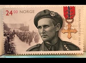 Norwegen 2018 Michel Nr. 1970 100. Geburtstag von Gunnar Sønsteby Widerstand