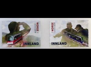 Norwegen 2018 Michel Nr. 1975-76 100 Jahre Standseilbahn Fløibanen in Bergen