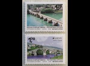 Bosnien Herzegowina Serbische Republik 2018 Neuheit Europaausgabe Brücken