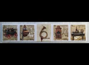 Serbien Serbia 2018 Nr. 790-93 Museumsgegenstände Antiquitäten Kutsche Telefon