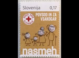 Slowenien Slovenia 2018 Neuheit Zwangszuschlagsmarke Rotes Kreuz