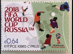 Zypern griechisch Cyprus 2018 Nr. 1389 Fußball-Weltmeisterschaft Fifa World Cup
