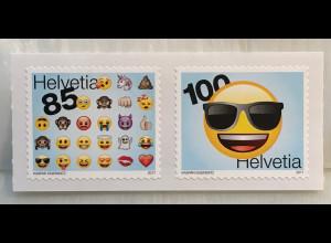 Schweiz 2017 Michel Nr. 2503-04 Emojis beliebte Bildschriftzeichen
