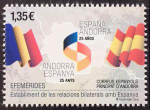 Andorra spanisch 2018 Nr. 468 25 Jahre bilaterale Beziehungen mit Spanien
