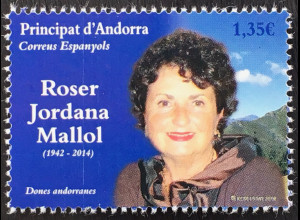 Andorra spanisch 2018 Nr. 466 Roser Jordana Mallol berühmte Frauen Tourismus