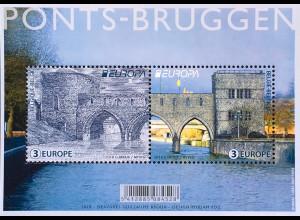 Belgien 2018 Block 224 Europaausgabe Brückenmotive Europacept Ponte Bridge