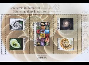Belgien 2018 Block 226 Geometrie in der Natur Spirale Naturwissenschaft