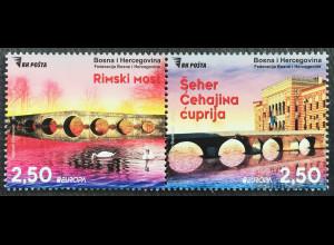 Bosnien Herzegowina 2018 Neuheit Europaausgabe Brückenmotive Europacept